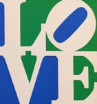 LOVE (White Green Blue) - click to enlarge