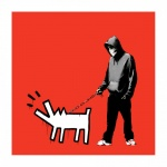 Banksy Red Choose Your Weapon Signed - click to enlarge