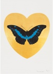 I Love You - Gold Leaf/Black/Turquoise - click to enlarge