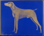 Weimaraner (Gold on Blue) - click to enlarge