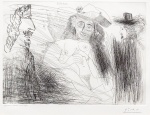Peintre, Modele au Chapeau de Paille, et Gentilhomme, from the 347 Series, 23 August, 1968 - click to enlarge