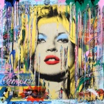 KATE MOSS (MIXED MEDIA) - click to enlarge
