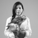 Portrait with Falcon - click to enlarge