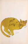 Sam. [Reclining ochre cat with red eyes.] - click to enlarge