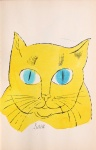Sam. [Portrait of yellow cat with turquoise eyes.] - click to enlarge