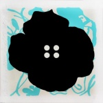 Button Flower Aqua - click to enlarge