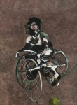 Portrait of Georges Dyer Riding a Bicycle 1966 - click to enlarge