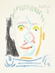 Tete d'homme au maillot raye (Man's Head with Striped Shirt), 1964 - click to enlarge