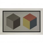 Double Cubes in Gray and Colors Superimposed - click to enlarge