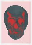 Candy Floss Pink Racing Green Pigment Red Pop Skull - click to enlarge